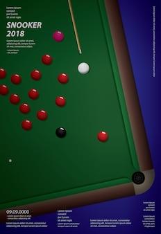 Snooker-meisterschaftsplakat