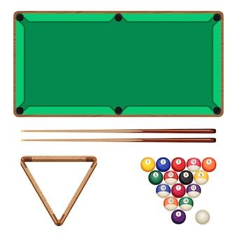 Snooker- und poolspiele isoliert auf weiß