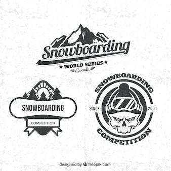 Snowboarding abzeichen