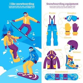 Snowboarding vertikale banner