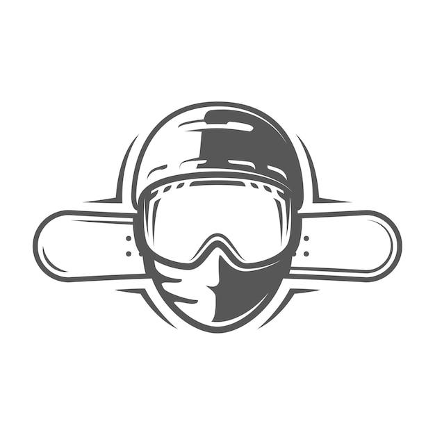 Snowboards und helm isoliert