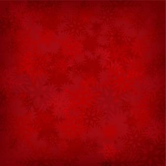 Snowflakes rotem hintergrund