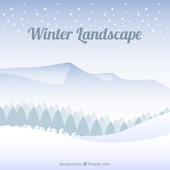 Snowy-wald-hintergrund