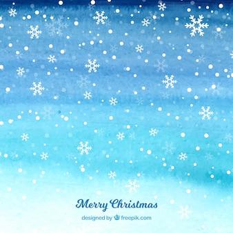 Snowy weihnachtstag hintergrund