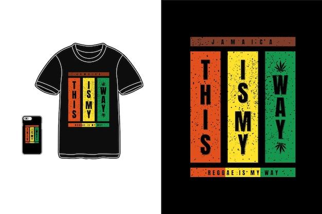So ist reggae meine art typografie