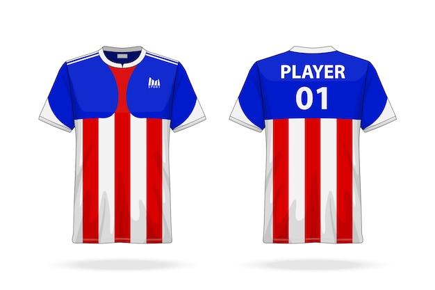 Soccer sport und esport t-shirt mit rundhalsausschnitt
