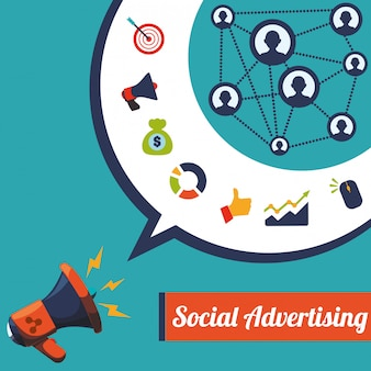 Social advertising und digital marketing design