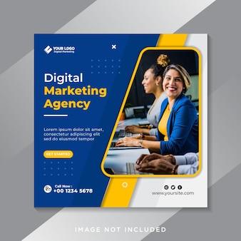 Social business marketing social media banner oder square flyer