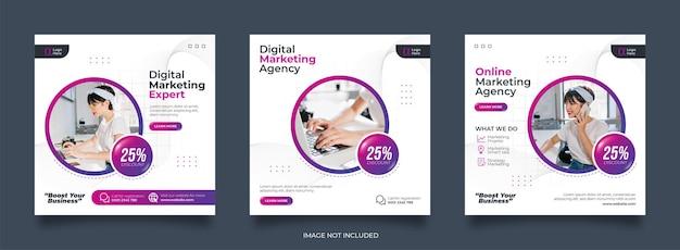 Social business marketing social media post vorlage