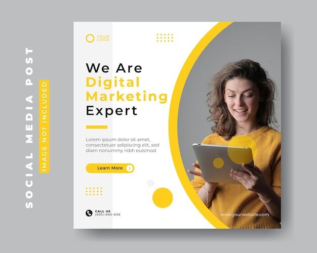 Social business marketing square social media post-vorlagen