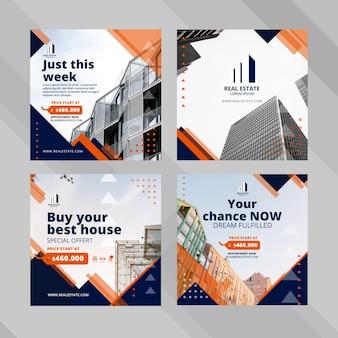 Social business post-vorlage für immobilienunternehmen