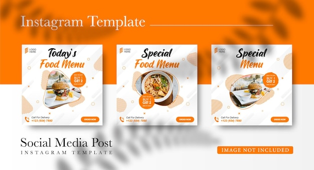 Social food promotion burger food und instagram post design vorlage