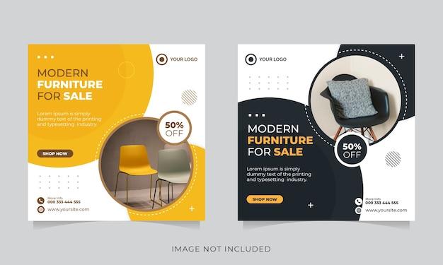 Social furniture social media und instagram post vorlage