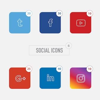 Social icons sammlung
