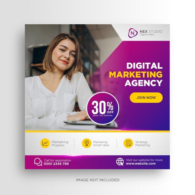 Social marketing agentur social media post bannerwerbung
