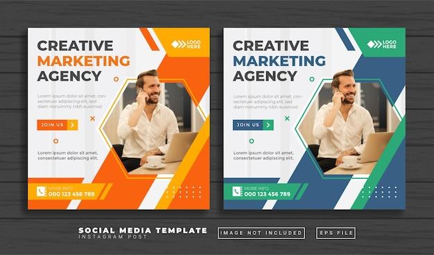 Social-marketing-agentur social media post-vorlage