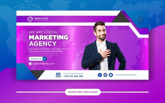 Social marketing banner vorlage für digitales marketing