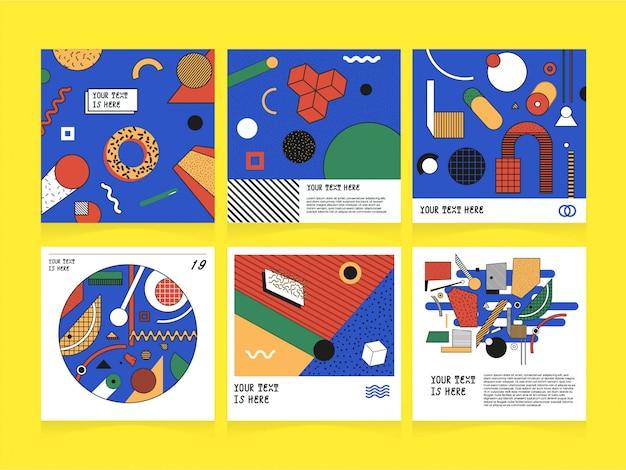 Social media-abstrakte illustrations-schablone
