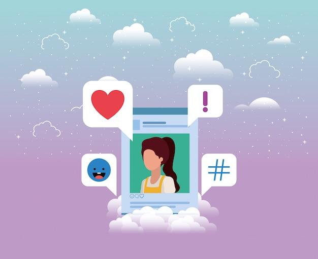 Social media account frau vorlage