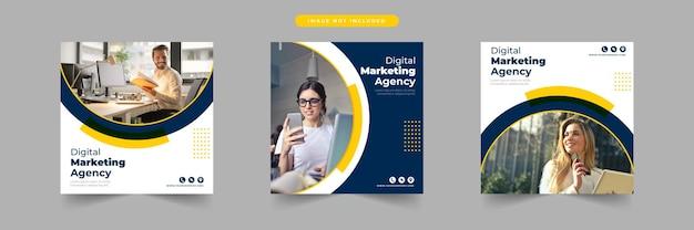 Social-media-agentur social-media-post-template-sammlung