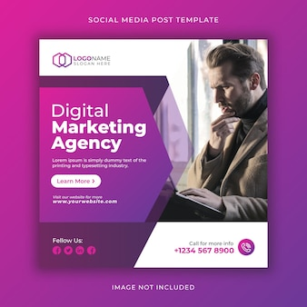 Social-media-agentur social media post und web-banner-vorlage