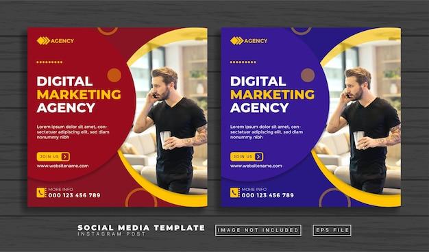 Social-media-agentur social media post-vorlage