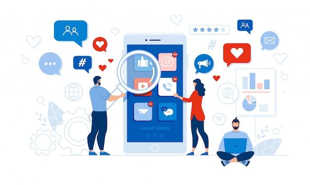 Social media audit für personen und mobile anwendungen