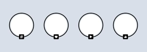 Social media avatar icon set
