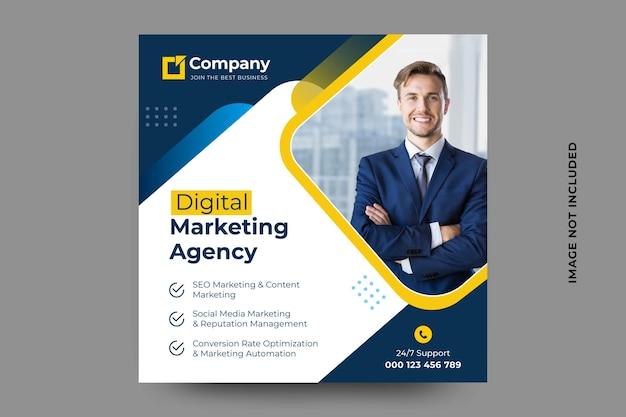 Social-media-banner für digitales marketing