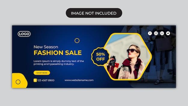 Social-media-banner oder social-media-vorlage für modeverkäufe