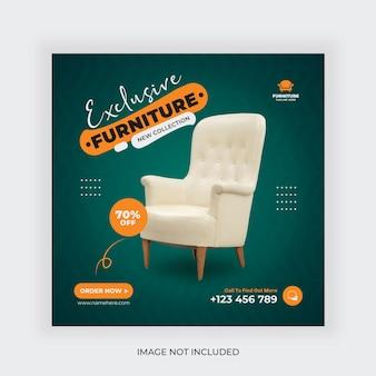 Social-media-banner-post-vorlage für den möbelverkauf