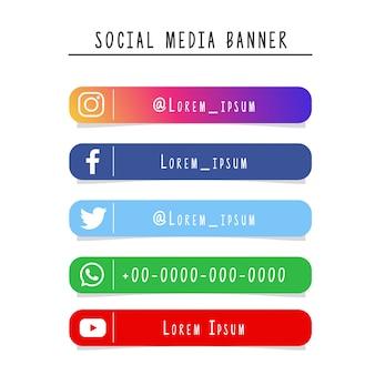 Social media banner-sammlung