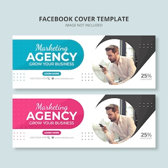 Social-media-banner-vorlage der marketingagentur