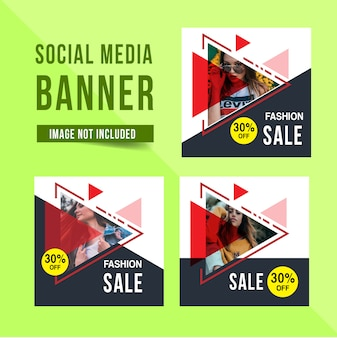 Social media banner vorlage werbung