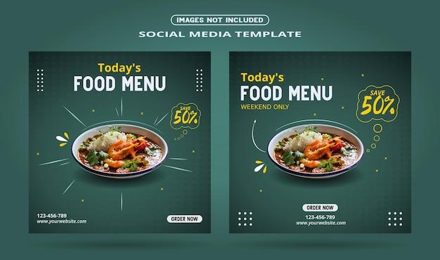 Social-media-bannerpost für lebensmittel