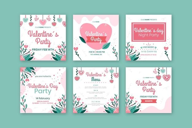 Social-media-beiträge zum valentinstag
