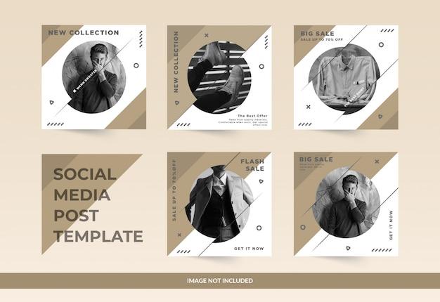 Social media-beitrag der modeverkaufszusammenfassung