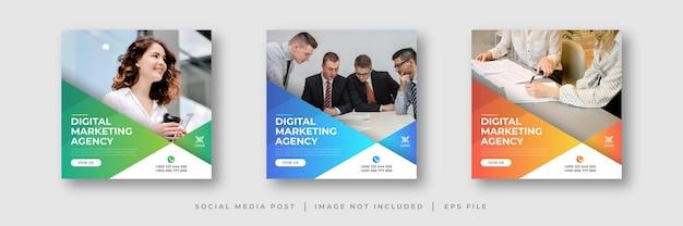 Social-media-beitrag einer agentur für digitales marketing