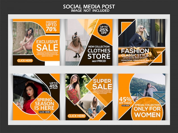Social-media-beitrag für mode-werbung