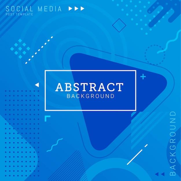 Social media beitrag vorlage abstrakt hintergrund