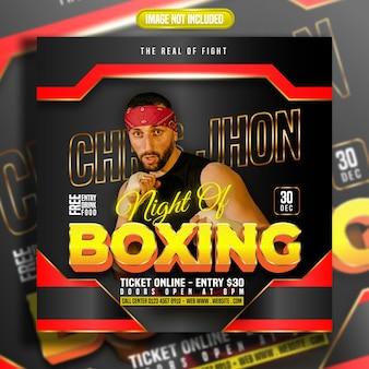 Social-media-beitrag zum boxen