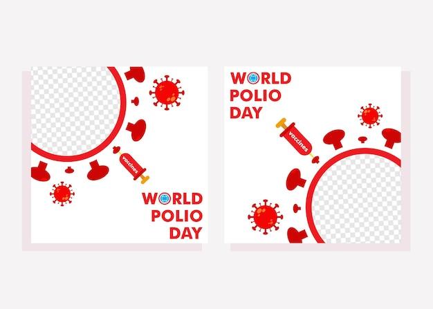 Social-media-beitrag zum welt-polio-tag social-media-beitrag für das designkonzept der polio-kampagne