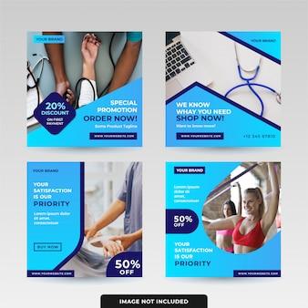 Social media beitragsvorlagen-designpaket