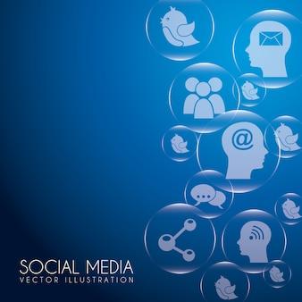 Social-media-blasen