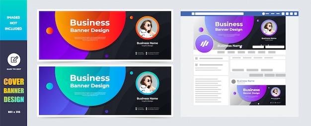 Social media cover banner design-vorlage