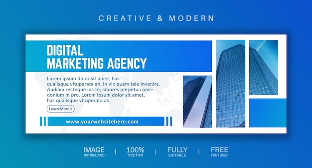 Social-media-cover und web-banner-vektor-vorlage