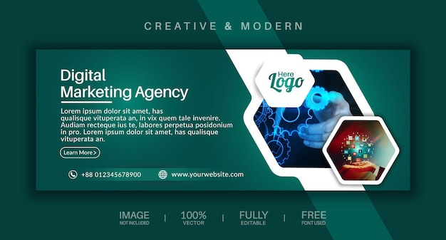 Social-media-cover und web-banner-vektorvorlage