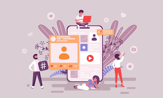 Social-media-darstellung