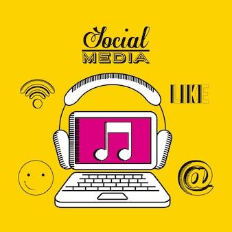 Social media-design, grafik der vektorillustration eps10