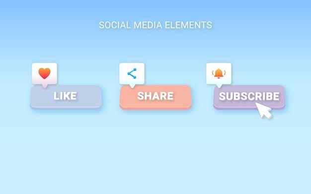 Social media elemente
